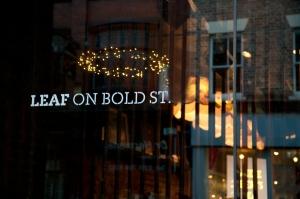 Front of shop - Leaf on Bold Street